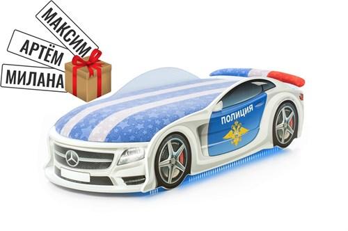 """Кровать-машина UNO """"Полиция Мерседес"""" - фото 11065"""