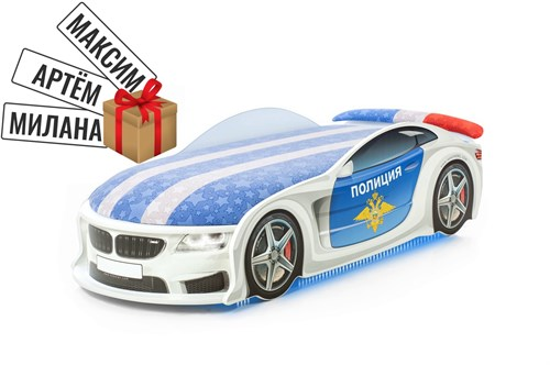 """Кровать-машина UNO """"Полиция БМВ"""" - фото 11149"""