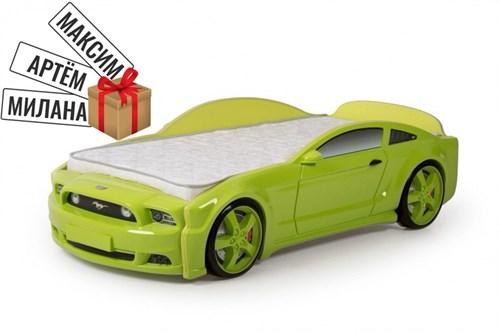 """Кровать-машина """"Мустанг"""" 3D зеленая - фото 11717"""