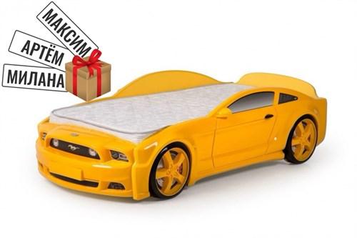 """Кровать-машина """"Мустанг"""" 3D желтая - фото 11770"""