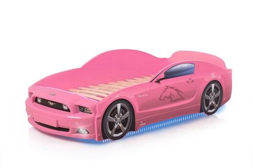 """Кровать-машина """"Мустанг Plus"""" розовая - фото 11941"""