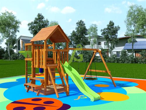 Детская площадка IgraGrad Крафт Pro 3 (скат 2,2) - фото 12163