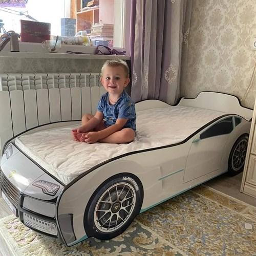 Кровать-машина ТУРБО БЕЛАЯ - фото 13631