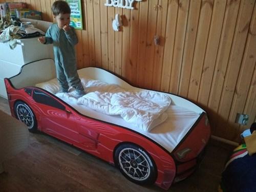 Кровать-машина ТУРБО КРАСНАЯ - фото 13665