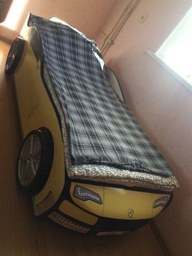Кровать-машина ТУРБО ЖЕЛТАЯ - фото 13741