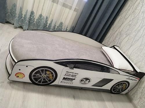 Кровать-машина ЛАМБА БЕЛАЯ - фото 13999