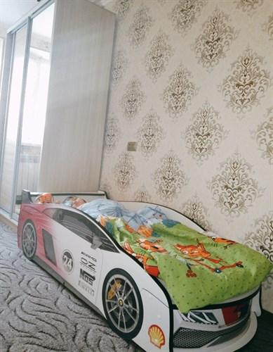 Кровать-машина ЛАМБА БЕЛАЯ 2 - фото 14078