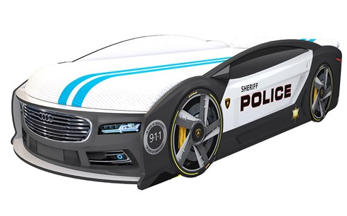 Кровать-машина МАНГО «Полиция» - фото 14546