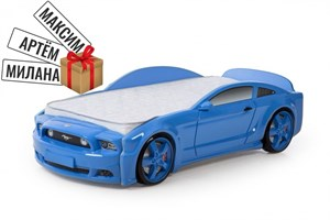 """Кровать-машина """"Мустанг"""" 3D синяя"""