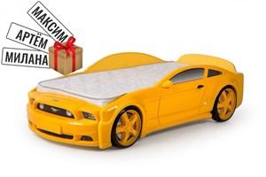 """Кровать-машина """"Мустанг"""" 3D желтая"""