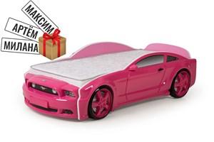 """Кровать-машина """"Мустанг"""" 3D розовая"""