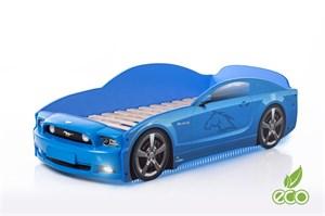 """Кровать-машина """"Мустанг Plus"""" синяя"""
